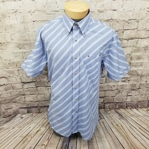 Tommy Hilfiger Mens Striped Button Front Shirt